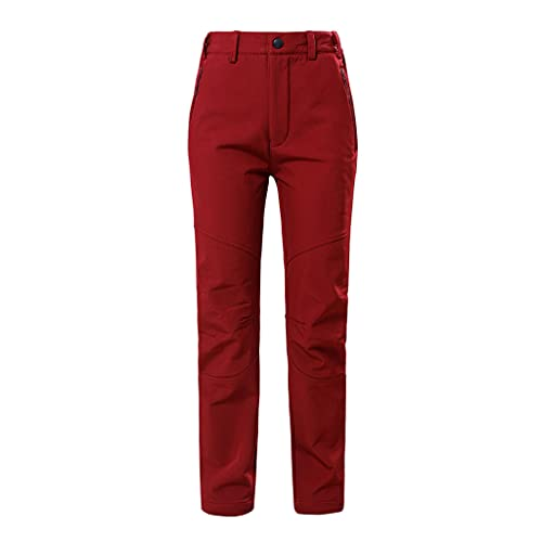 DEWBU Heated Pants for Men Heating Trousers with 7.4v Rechargeable Battery (Rose Red, 32)