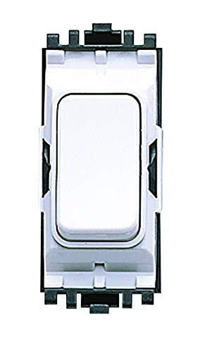 MK Electric Aspect Schalter-Modul, 20 A, 1-Wege, SP MK, Weiß