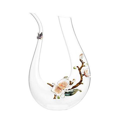 VATHJ Décanteur à vin en verre à vin en cristal de vin mis en verre à usage domestique européen en verre de verre élevé en verre créatif