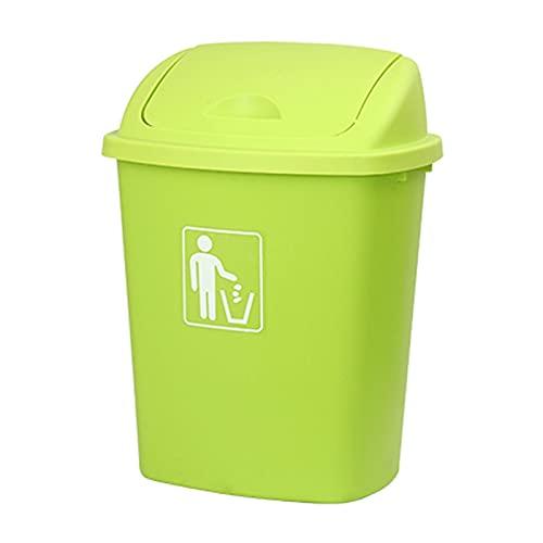 Cubo de Basura Papelera de basura, 6.6 galones de basura con tapa superior de swing-top, bote de baño de 30liter rectangular, tapa de swing de basura de la cocina (tres colores) papelera de oficina, c
