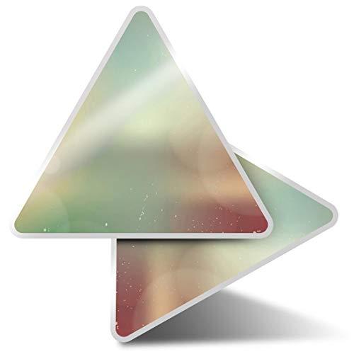 2 pegatinas triangulares de 10 cm – Retro fotografía exposiciones divertidas calcomanías para ordenadores portátiles, tabletas, equipaje, reserva de chatarra, nevera #3700