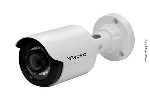 Câmera de Segurança Bullet Flex 1MP HD, IR 25m CB128P, Tecvoz, Branco