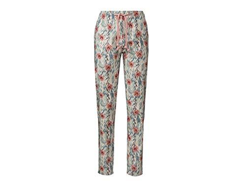 Esamara Damen Leinenhose Sommer Luftig Leicht Mode Fashion Hose Blumen 44