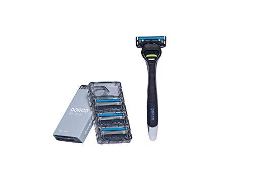 Dorco Pace 4 Pro Ersatzklingen für Rasierer (1 Griff + 8 Klinge)
