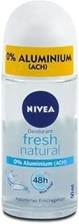 Genuine Authentic German Nivea Deodorant Fresh Natural Aluminum Free 1.69 fl.oz / 50ml