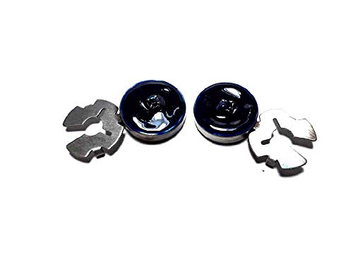 Artesanal 1 par de cubrebotones 18 mm Esmalte Azul Brillantes Azul baño Plata Brillante cubrebotones Joyas Hombre de Regalo Llavero