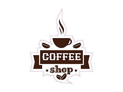 NetSpares 120709079 1 x Aufkleber Coffee Shop Kaffee Bohnen Sticker Tuning Shocker Smiley Fun Gag