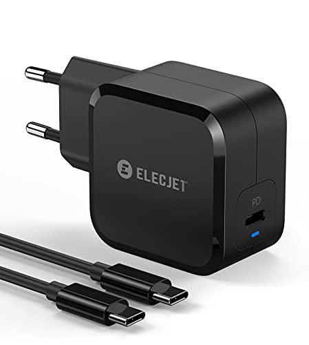 ELECJET Samsung USB C Ladegerät 45W | Schnellladegerät für Galaxy S21, S20, Note 10, 20 Ultra Plus 5G (PPS) | Für iPhone 12, MacBook Pro, iPad Pro, S10, S10+ und mehr (PD & QC 3.0 Schnellladung)