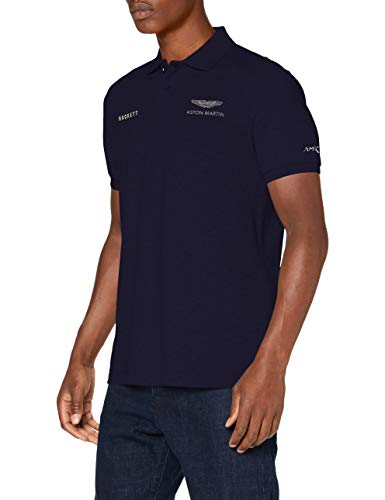 Photo of Hackett Men's AMR CUT LargeINES Polo Shirt, 595NAVY, X-Large