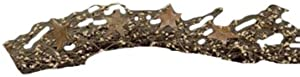 CWI Gifts Pip Berry and Star Garland, 40-Inch, Tea Stain