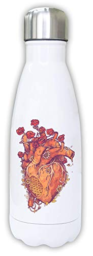 Iprints Bee Keeper Hart Honing Bloemen Art Thermisch Water Fles