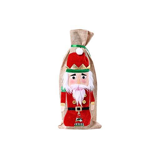 Younoo - Bolsas de cobertura para botella de vino de Navidad