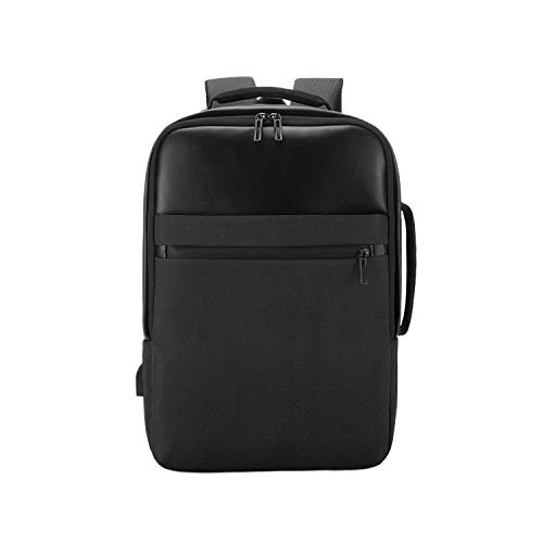 Men'S Business Backpack Oxford Cloth Multifunctional Computer Bag Simple Fashion Waterproof Travel Backpack-Black-