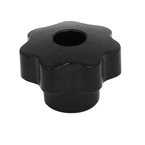 sourcing map Pomo las perillas de sujeción agarra negro M8x38mm de cabeza de plástico con rosca hembra Tornillo