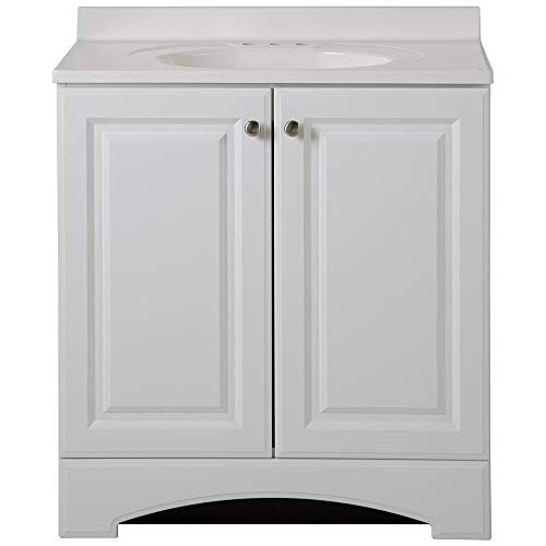 Glacier Bay 30-1/2 in. W Vanity in White with Cultured Marble Vanity -