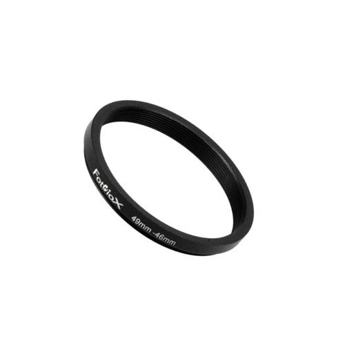 Fotodiox Adaptador de Filtro de Anillo de Metal, Aluminio Negro anodizado 49mm-46mm, 49-46 mm