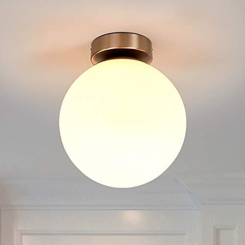 Lindby Deckenlampe 'Lennie' (spritzwassergeschützt) (Modern) in Weiß aus Glas u.a. für Badezimmer (1 flammig, E27, A++) - Bad Deckenleuchte, Lampe, Badezimmerleuchte