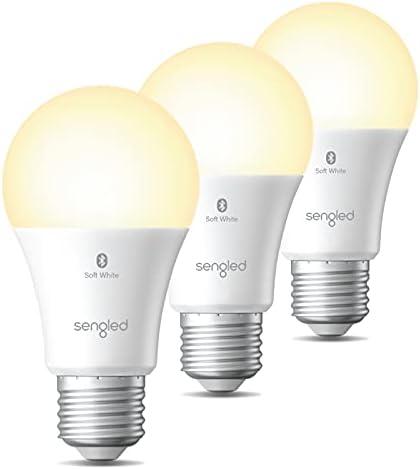Sengled Alexa Light Bulb, Bluetooth Mesh Smart Light Bulbs, Smart Bulbs That Work with Alexa Only, Dimmable LED Bulb E26 A19, 60W Equivalent Soft White 2700K, 800LM CRI>90, No Hub Required, 3 Pack