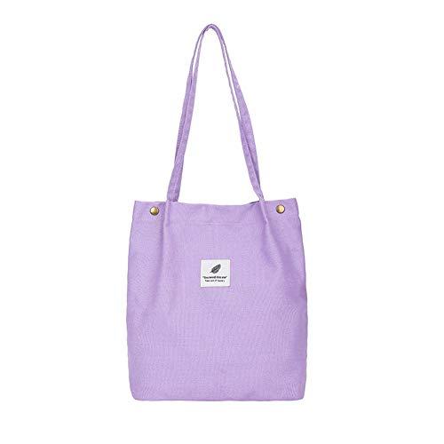 Hallolife canvas tas dames stoffen tas shopper casual schoudertas handtas grote chic schoolrugzak voor dagelijks gebruik kantoor schooluitstapjes winkelen