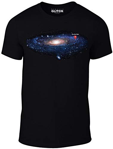 Mens You Are Here T-shirt Space Map Stars Science Solar System Galaxy Infinity
