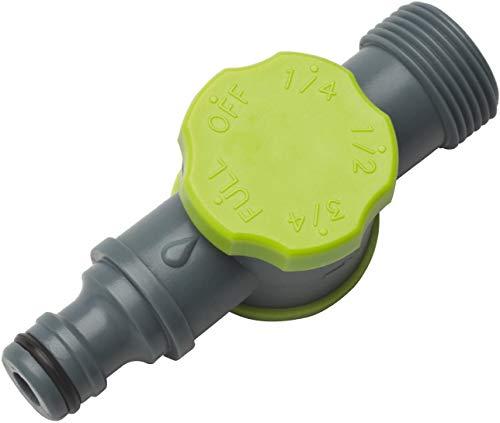 REHAU Durchflussminderer, Druckminderer stufenweise einstellbar, für Perlschlauch/Tropfschlauch/Gartenschlauch