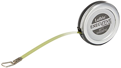 Crescent Lufkin 1/4 x 6 Executive Diameter Yellow Clad A19 Blade Pocket Tape Measure - W606PD
