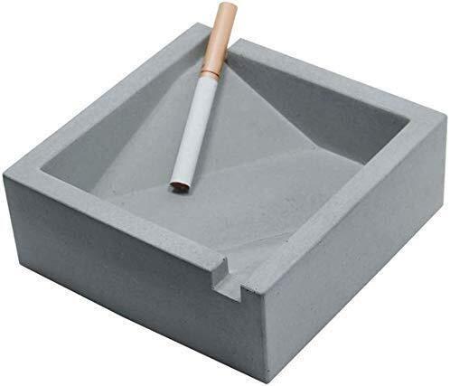 DAGCOT Cenicero Papelera Bandeja Ambiente Sencillo Ceniceros Doble Tanque for los Cigarrillos,...