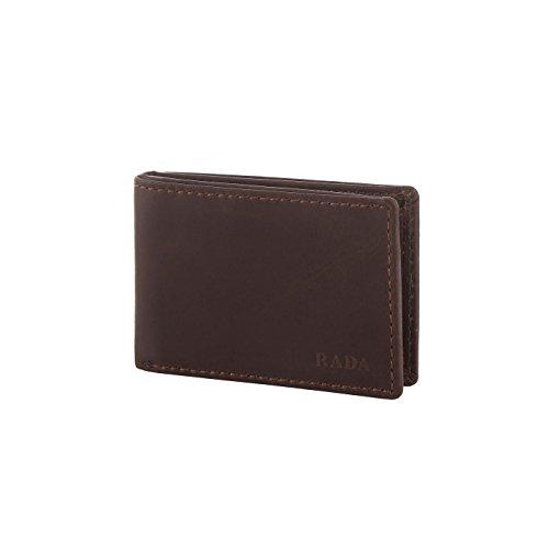 Hochwertige Echt Leder Geldbörse von Rada – Querbörse Echtleder für Herren – mit 8 Kreditkartenfächer, Geldscheinfach, Münzfach – Portmonee für Männer
