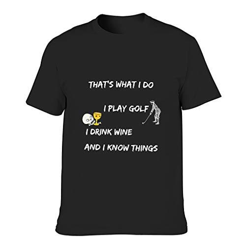 XJJ88 T-shirt de golf en coton pour homme - Noir - 3XL
