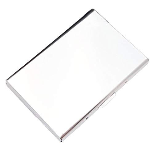 Anti-Scanning RFID 1 PC Aluminium Metall Kreditkartenhalter ultradünne Barriere Brieftasche Box Visitenkarte Schutz Ordner Box-White