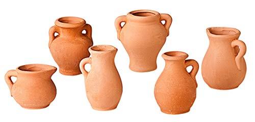 Ton-Vasen, 6er-Set Höhe 4-6cm