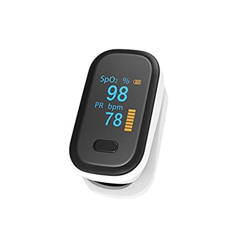 Knowoo Pulsioxímetro de Dedo, Monitor de saturación de oxígeno en Sangre, Monitor de frecuencia cardíaca y Niveles de SpO2, pulsioxímetro portátil con cordón