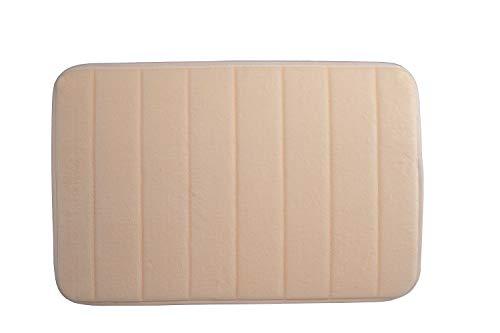 Badezimmer Badematte/Bettvorleger mit Memory Schaum Effekt, 60x40cm, saugfähige Duschmatte mit Anti Rutsch Unterseite, waschbarer, flauschig weicher Badteppich