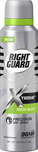 Right Guard Antiperspirant Dry Spray Deodorant, Fresh Blast, 4 Ounce