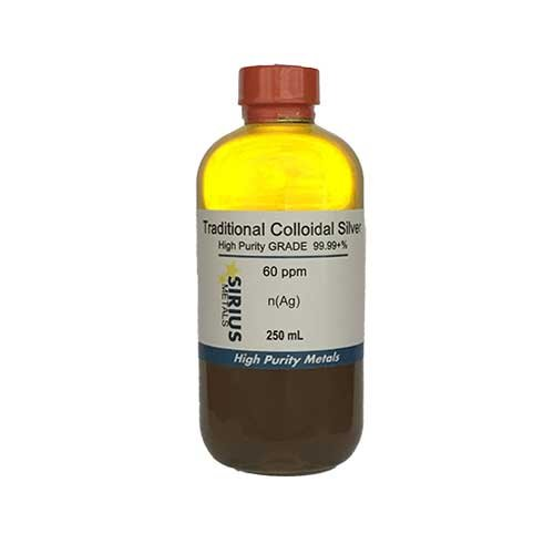 Traditional Colloidal Silver (No Chemicals) - 250 mL of 50 ppm BPA-free plastic