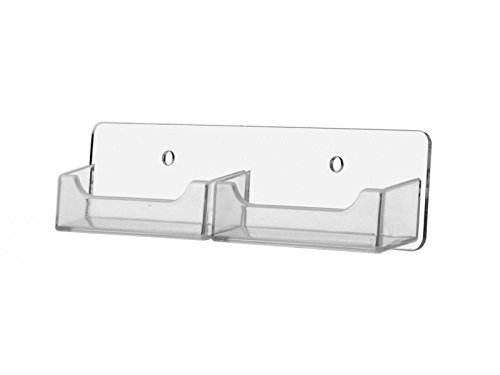 Marketing Holders 2 Pocket Horizontal Clear Pockets Wall Mounting Business Card Holder