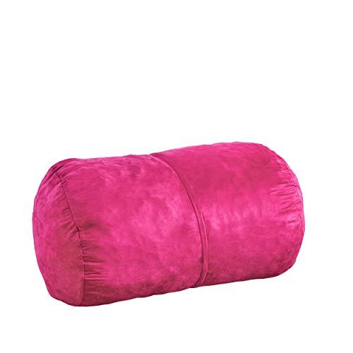 Christopher Knight Home Cassell Fuchsia Pink Fabric 4-foot Lounge Beanbag Chair, Fuschia