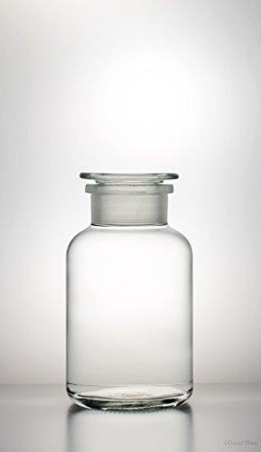 3x Apothekerflasche 1000ml klarglas inkl. Glasstopfen - Gewürzglas, Weithalsflasche Apothekerglas Stopfenflasche Laborflasche Laborglas Rundschulterflasche Weithalsflaschen Apothekergläser Stopfenflaschen Laborflaschen Laborgläser Rundschulterflaschen