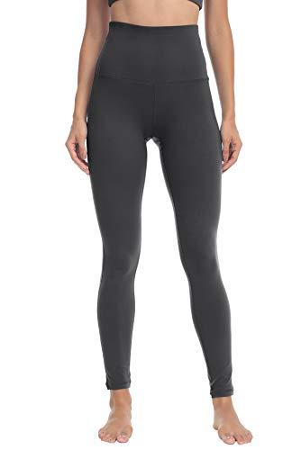 QUEENIEKE Yoga Hosen Damen-hohe Taillen Yoga Leggings mit Tasche Trainings Strumpfhosen für Laufen Fitness(Meteorit Grau, S)