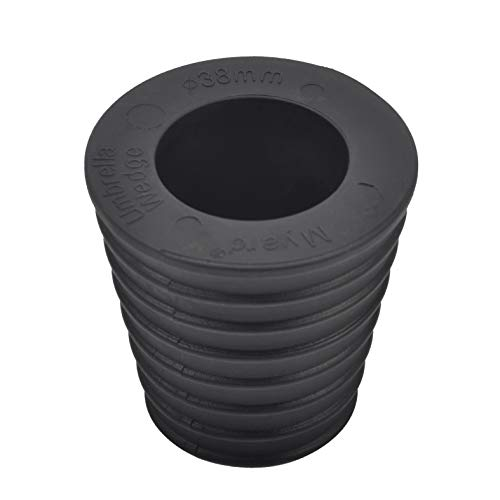 Myard Umbrella Cone Wedge Spacer fits Patio Table Hole Opening or Base 1.8 to 2.4 Inch (1 1/2', Black)