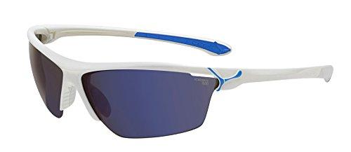 Cébé CBCINETIK1 - Gafas de sol con cristales intercambiables, montura color blanco y azul, talla L