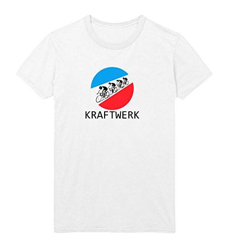 Kraftwerk Tour De Herren Shirt Men Men's T-Shirt White Shirt Baumwolle Geburtstagsgeschenk Birthday Gift Herren MD White Men Shirt White
