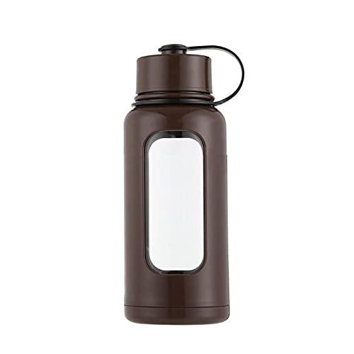 JSSEVN Botella de agua deportiva de 25 onzas de vidrio libre de BPA jarra de agua suficiente agua diaria para entusiastas de fitness y al aire libre