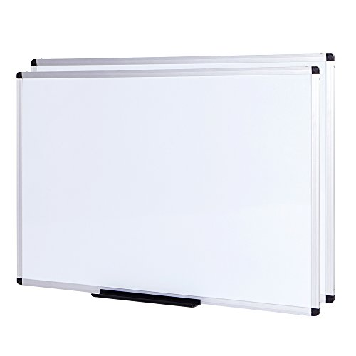 VIZ-PRO Magnetic Dry Erase Board, 72 X 48 Inches,2 Pack, Silver Aluminium Frame