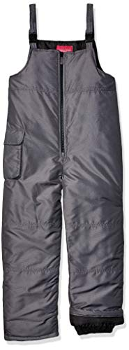 LONDON FOG Girls' Big Classic Snow Bib Ski Snowsuit, Grey, 14/16