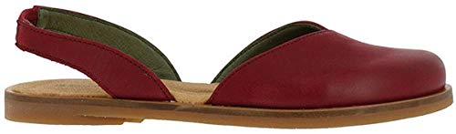El Naturalista Damenschuhe NF38 Tulip Klassische Damen Sandale, Sandalette zum Reinschlupfen mit Fersenriemen Rot (Rioja), EU 40