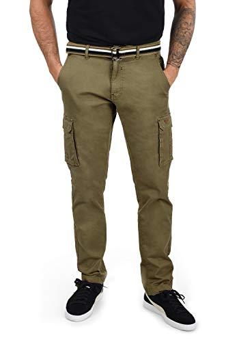 Blend Brutus Herren Cargohose Lange Hose mit Stretchanteil, Größe:W33/32, Farbe:Martini Olive (77238)