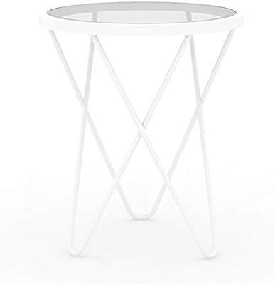 Amazon.com: L-Life - Mesa auxiliar de alambre pequeño, mesa ...