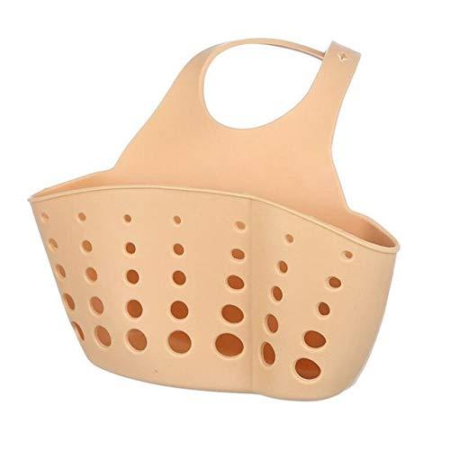Mdsfe keukengootsteen wastafel hangend mand verstelbare badkamer zeep spons afvoer rek gereedschap - donkere kaki