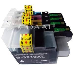 WIYP Cartucho LC3219 LC3219XL Completa Tinta for Brother MFC-J5330DW J5335DW J5730DW J5930DW J6530DW J6935DW LC3217 Impresora (Color : 4pk BK C M Y)